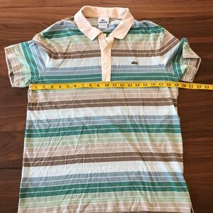 Men's Lightweight Lacoste Striped Polo Medium 4